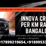 Innova Crysta Per km rate in Bangalore.citylinecabs.in